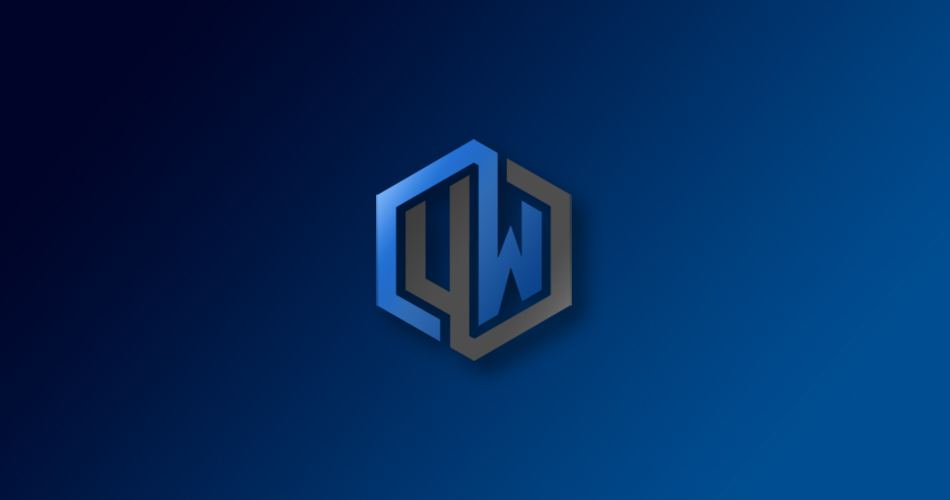 Logo de Undefined World con un degradado azul