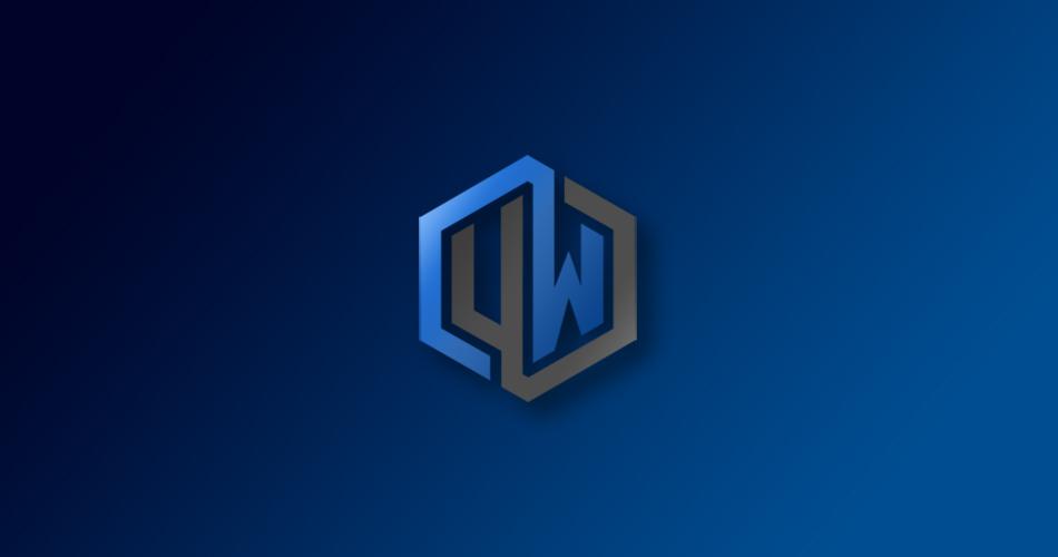 Logo de Undefined World con un degradado azul